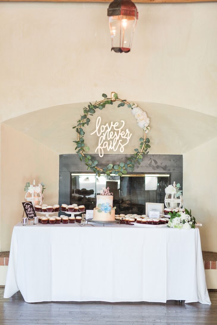 Whimsical Eucalyptus Dessert Table Wreath