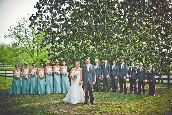 Light Blue and Gray Wedding Attire