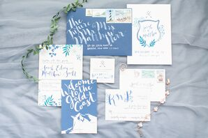 Blue and White Nautical Stationery Suite
