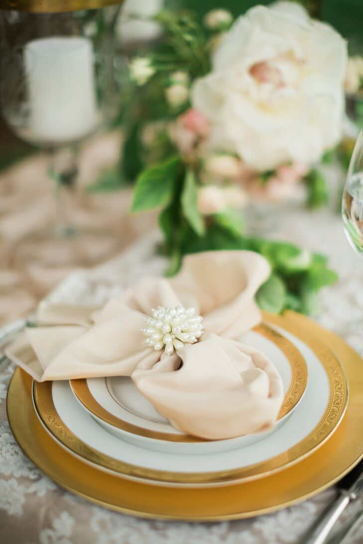 Elegant Blush and Gold Place Settings