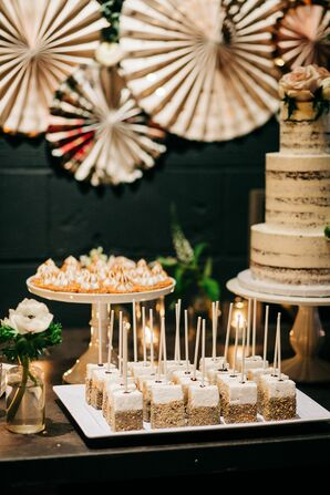 Modern Dessert Table with Marshmallow Pops