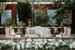 Neutral Lounge Area at Outdoor Reception