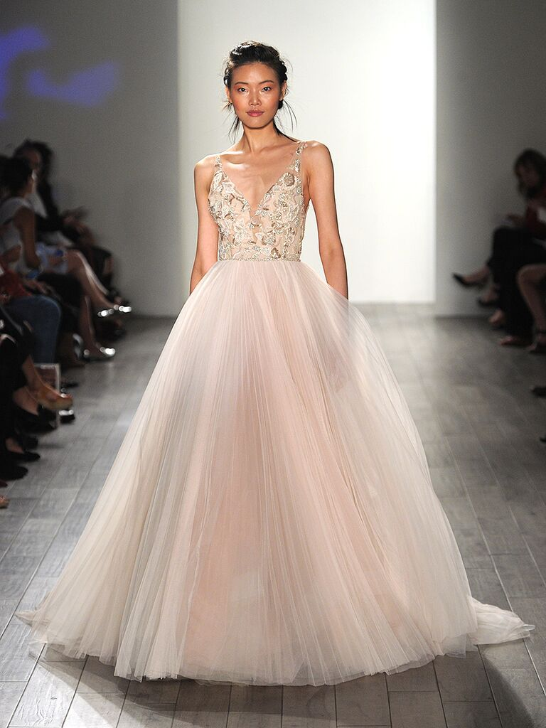 Blush Pink Wedding Gown By Lazaro