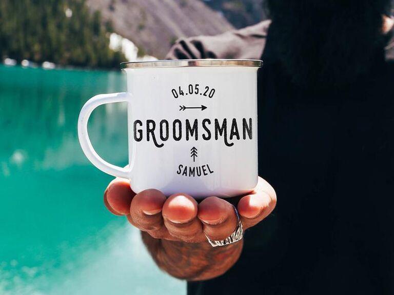 Custom coffee mug groomsmen proposal gift