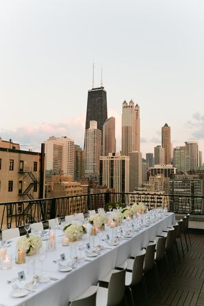 Glamorous Rooftop Reception at The Ambassador