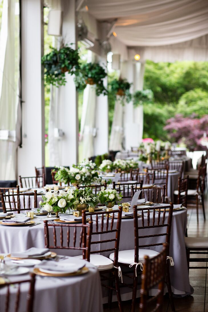 "While Caitlin and Hugh call Austin, Texas, home, their families and friends are scattered all over the country, which meant a little travel would be involved for all their guests. When they decided on Pennsylvania, the Manor House had the elegance, romance and undeniable old-world charm the couple were after. ""I wanted a garden-like feel for the reception, and when Jacylyn of Two Little Birds Planning took us to the Manor House, we both fell in love with it,"" Caitlin says."