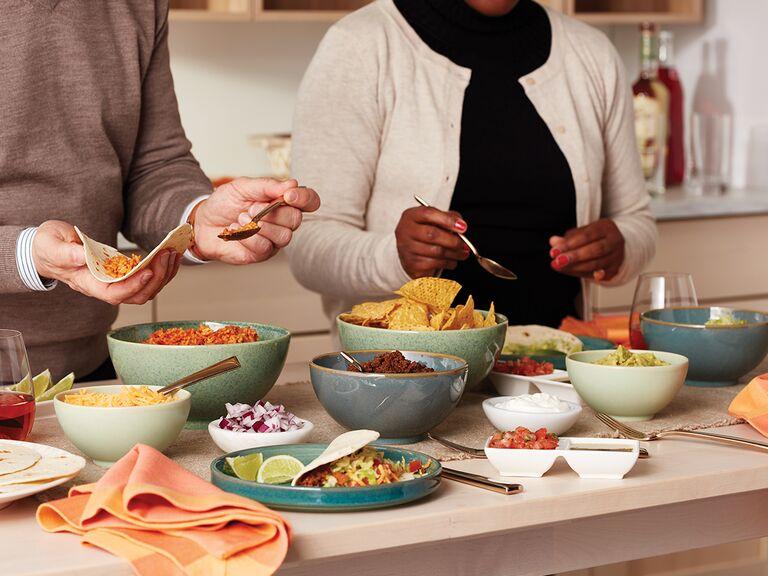 taco buffet set-up