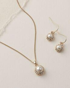 Dareth Colburn Swarovski Pearl Jewelry Set (JS-7109) Wedding Necklace photo