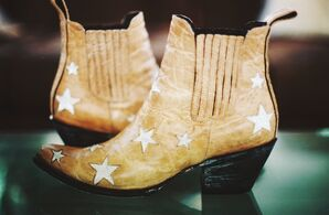 Star-Studded Bridal Cowboy Boots