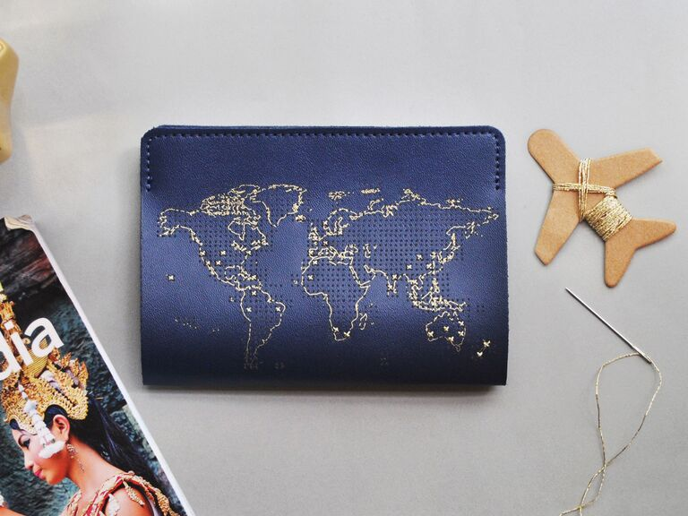 Travel tracker passport cover gift for daughter-in-law