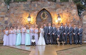 Lavender and Mint Wedding Party at Castle Wall