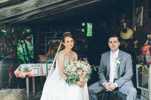 Rustic Bride and Groom at Ogontz White Mountain Camp