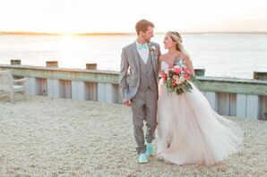 Colorful Couple on the Beach in Avalon, New Jersey