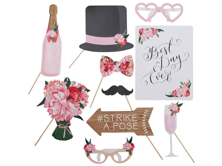 Flower wedding photo booth props