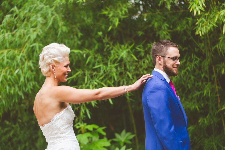 Trumpet-Style Matthew Christopher Wedding Dress