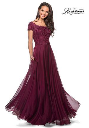 La Femme Evening 26550 Red Mother Of The Bride Dress