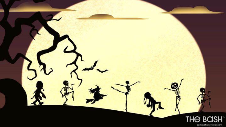 Halloween Zoom Background - Dancing in the Moonlight