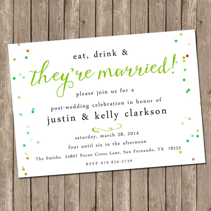 our favorite post wedding brunch invitations