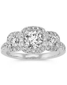 Shane Co. Glamorous Round Cut Engagement Ring
