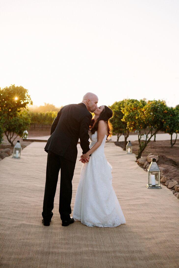 Anna Meia Couture White Wedding Dress