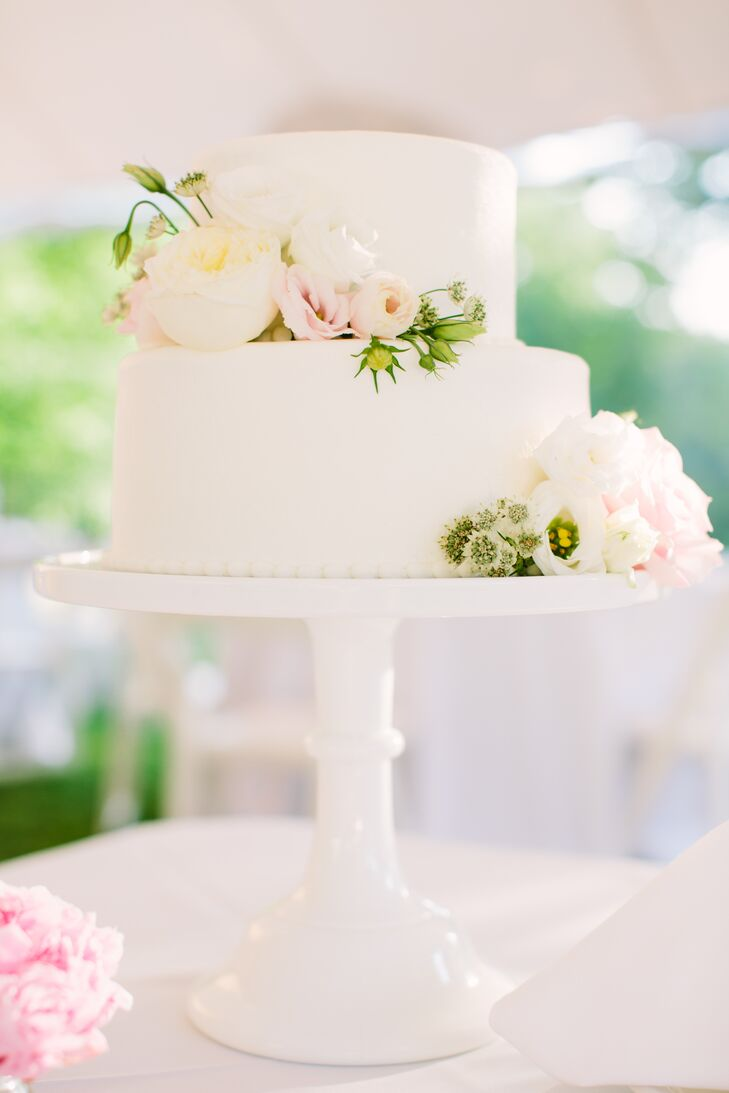 Simple Two-Tier Garden Rose Cake
