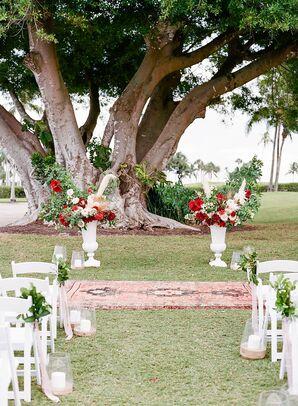 Altar for Wedding Ceremony at The Gasparilla Inn in Boca Grande, Florida