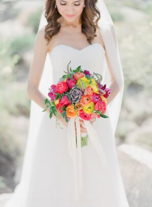 A Bold Bridal Bouquet