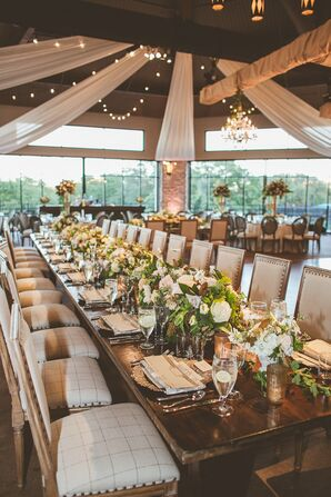 Rustic, Elegant Reception with Outdoor Feel in Austin, Texas