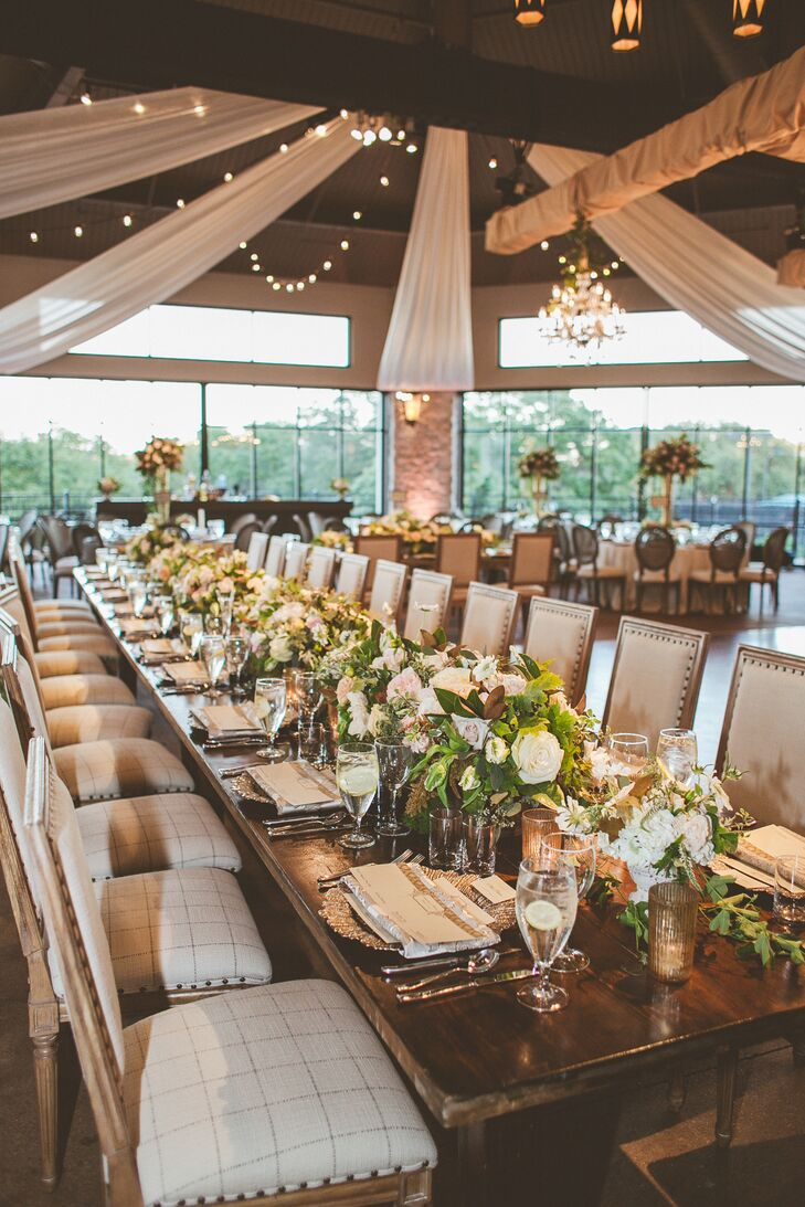 Samantha and Brennan chose The Pavilion Room at Omni Barton Creek for their reception because they loved the rustic, elegant look with an outdoor feel. The couple wanted to host their reception at a convenient location that offered lots of fun activities to make the weekend more of a vacation than just a wedding for their many out of town guests.