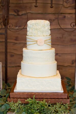 Five-Tiered Buttercream Wedding Cake