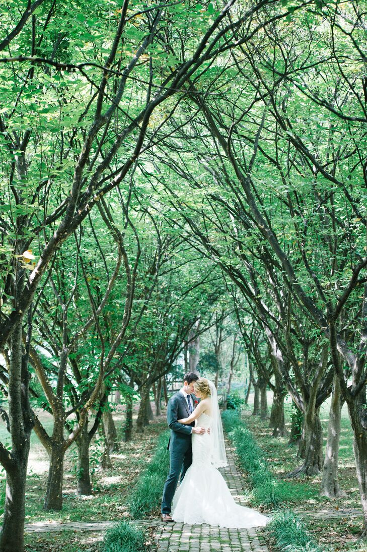 Married Couple With Green Backdrop