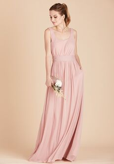 Birdy Grey Jan Scoop Back Dress in Rose Quartz Scoop Bridesmaid Dress