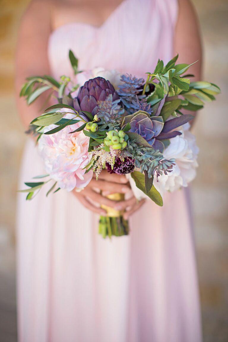 Bridesmaid bouquet with succulents