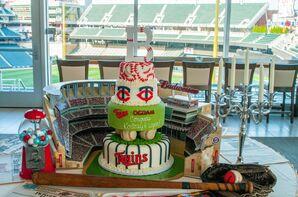 Minnesota Twins Baseball Wedding Cake