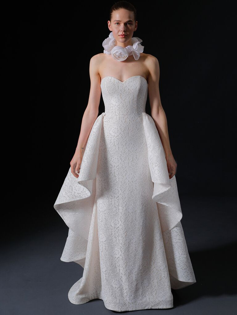 Isabelle Armstrong Spring 2020 Bridal Collection strapless wedding dress with ruffle detail