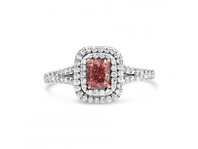 J.R. Dunn pink diamond ring in platinum