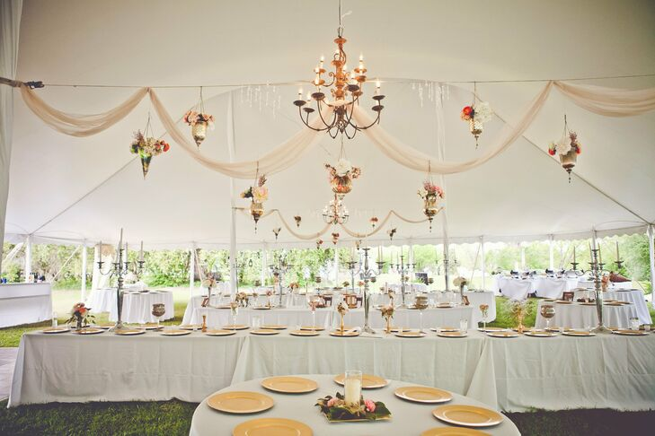 Hanging Tented Reception Decor
