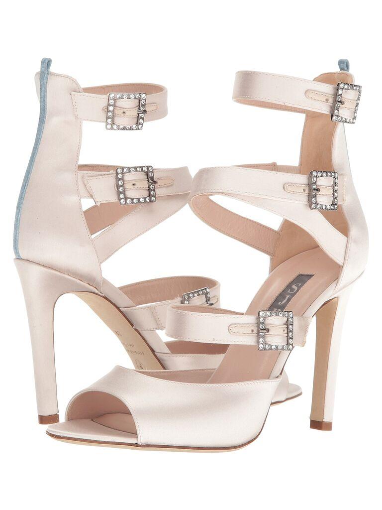 White Fugue bridal SJP by Sarah Jessica Parker heels