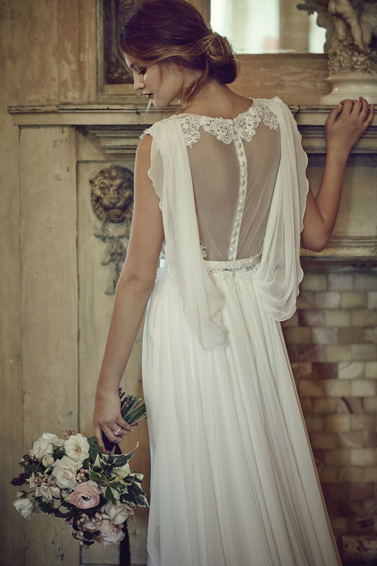 Eugenia wedding dress with an open back
