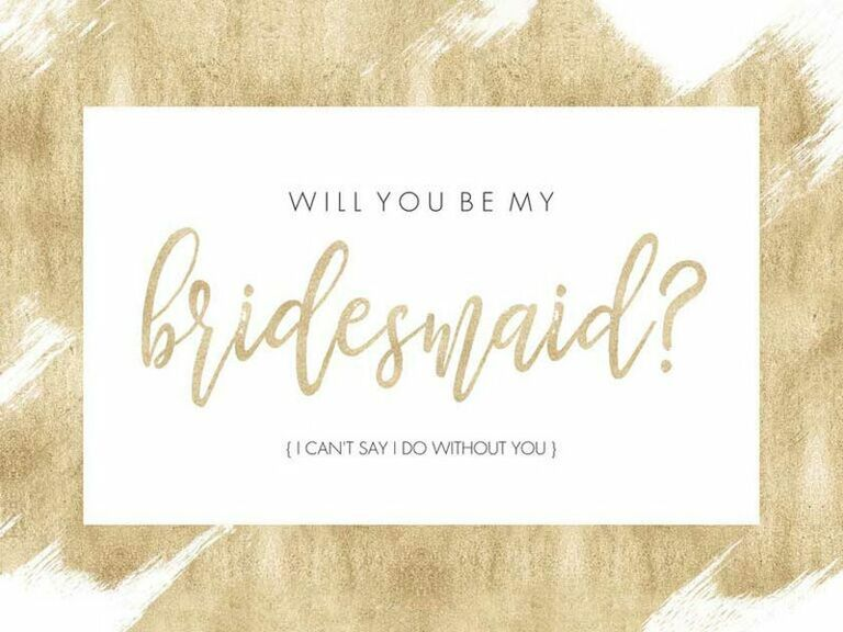 BEY My Bridesmaid Will You Be My Bridesmaid Card