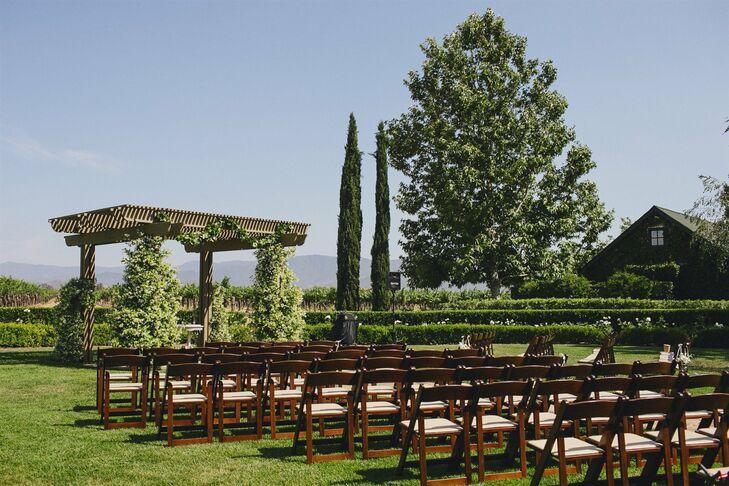 Beautiful Vineyard Wedding Ceremony
