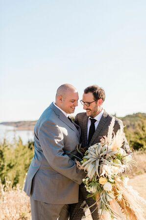 Same-Sex Couple Wedding Portraits at Blue Vista in Randolph, Kansas