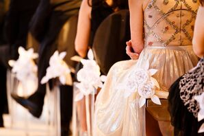 Origami Flower Aisle Markers