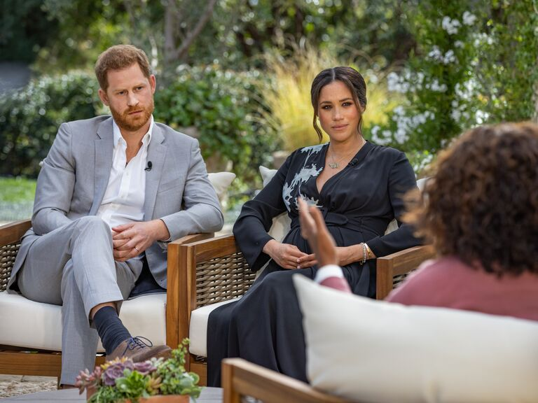 harry and meghan sit down with oprah and look serious