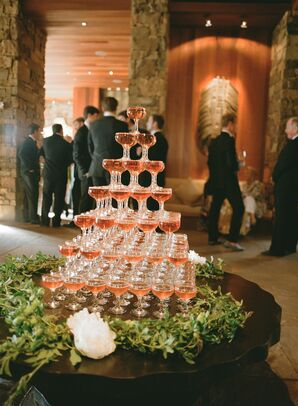 Champagne Tower Centerpiece