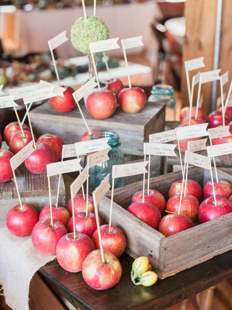 Fresh Red Apple Escort Cards