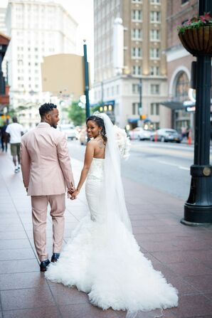 Couple at Their Wedding at the Southern Exchange Ballrooms in Atlanta, Georgia