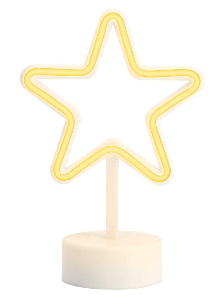 Neon star table lamp flower girl gift