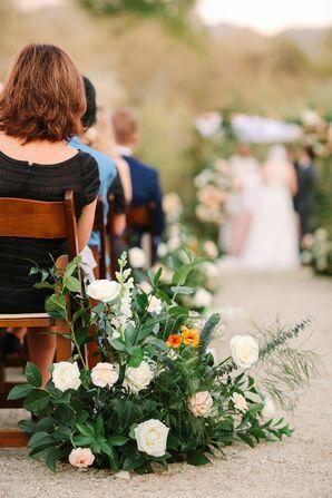 Greenery Aisle Arrangement for Ceremony at The Living Desert Zoo and Garden in Palm Desert, California