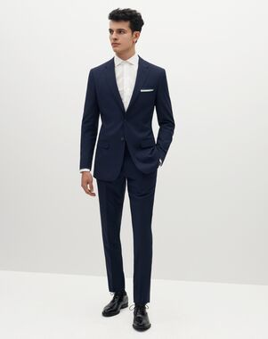 Suit Shop Men's Brilliant Blue Suit Blue Tuxedo